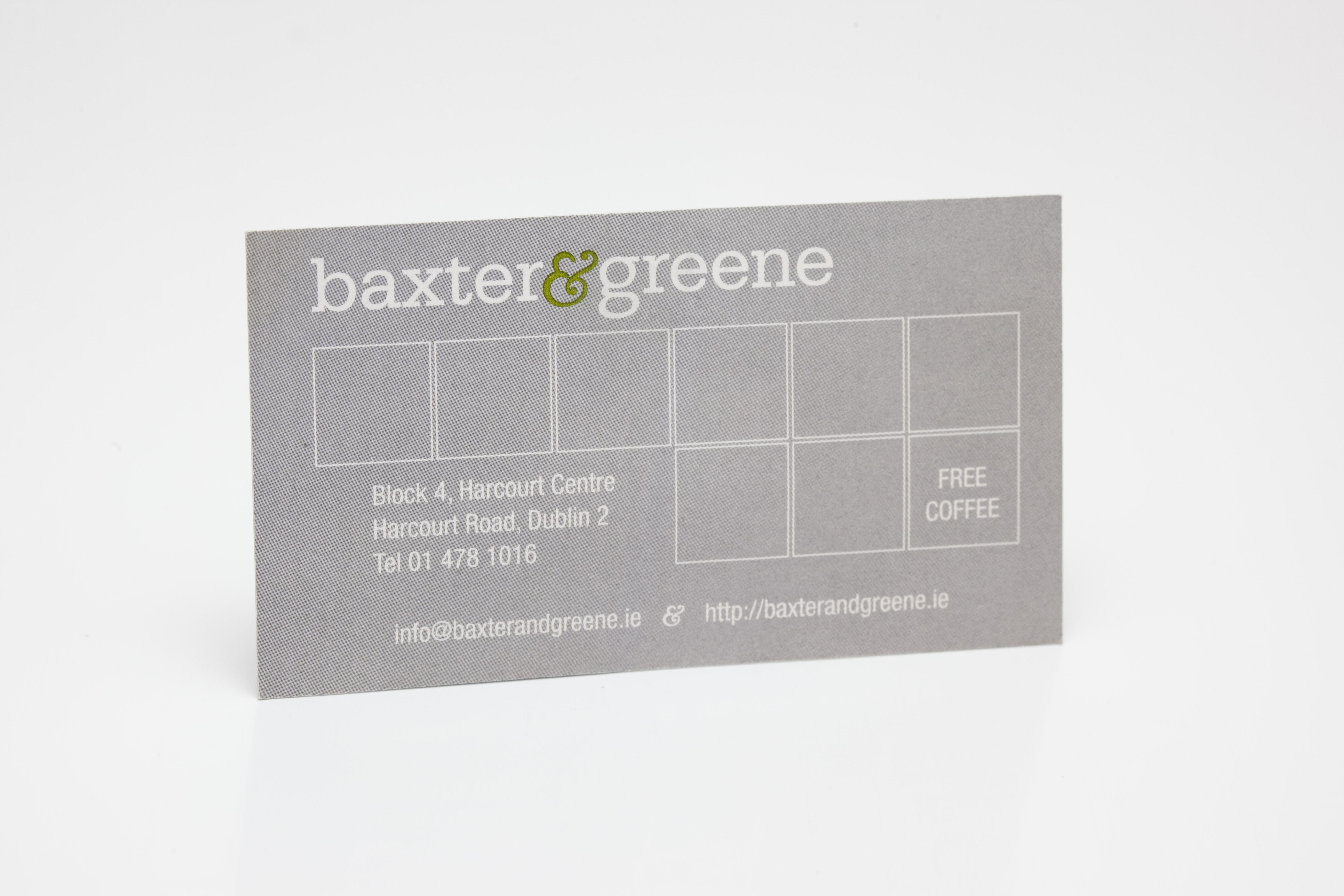 baxter greene business card digital print - Paceprint.ie