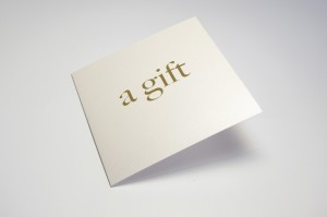 Lithographic printing gift card