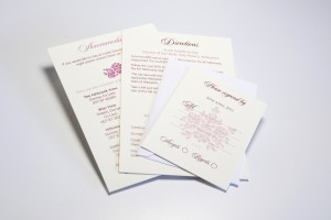 Wedding invitations letterheads